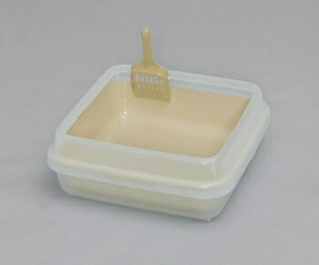 アイリスオーヤマ ネコのトイレ NE-400 トイレ ミルキーブラウンCA-400N(代引き不可) P12Sep14