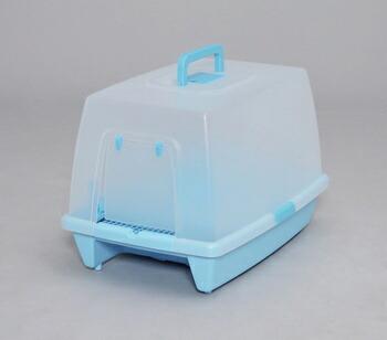 アイリスオーヤマ 砂落としマット付脱臭ネコトイレ SN-520 トイレ ミルキーブルーSN-520(代引き不可) P12Sep14