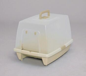 アイリスオーヤマ 砂落としマット付脱臭ネコトイレ SN-520 トイレ ミルキーブラウンSN-520(代引き不可) P12Sep14