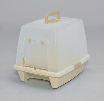 アイリスオーヤマ 砂落としマット付脱臭ネコトイレ SN-620 トイレ ミルキーブラウンSN-620(代引き不可) P12Sep14