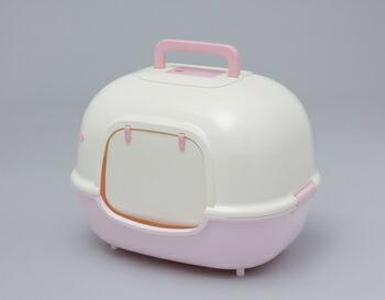アイリスオーヤマ 脱臭ワイド猫トイレ WNT-510 トイレ ミルキーピンクWNT-510(代引き不可) P12Sep14