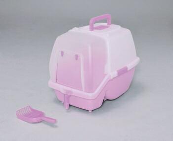 アイリスオーヤマ 掃除のしやすいネコトイレ SSN-530 トイレ ミルキーピンクSSN-530(代引き不可) P12Sep14