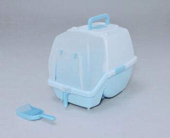 アイリスオーヤマ 掃除のしやすいネコトイレ SSN-530 トイレ ミルキーブルーSSN-530(代引き不可) P12Sep14