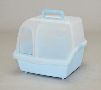 アイリスオーヤマ 散らかりにくいネコトイレ CNT-500 トイレ ミルキーブルーCNT-500(代引き不可) P12Sep14