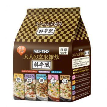 キユーピー ヘルシーキユーピー 大人の玄米雑炊 料亭風 5食セット 2個(代引き不可) P12Sep14