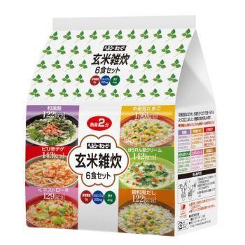 キユーピー ヘルシーキユーピー 玄米雑炊 6食セット 2個(代引き不可) P12Sep14