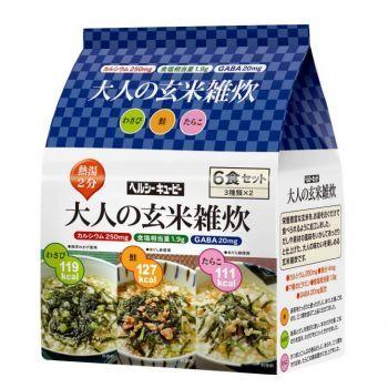 キユーピー ヘルシーキユーピー 大人の玄米雑炊 6食セット 2個(代引き不可) P12Sep14