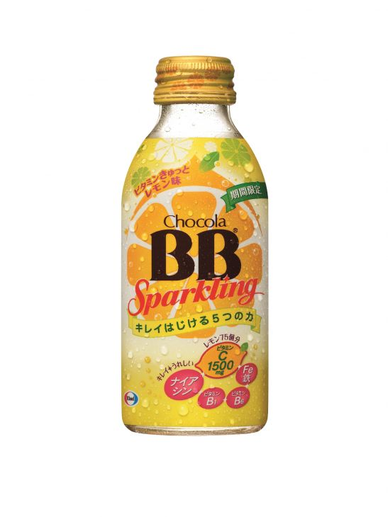 エーザイ チョコラBBスパークリング  ビタミンきゅっとレモン味140ml (栄養機能食品(ナイアシン)、炭酸飲料)<1ケース> 1ケース(代引き不可) P12Sep14