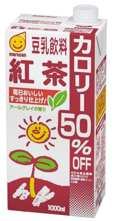 マルサンアイ 豆乳飲料紅茶カロリー50%オフ 1000ml 1ケース(代引き不可) P12Sep14