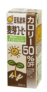 マルサンアイ 豆乳飲料麦芽コーヒー カロリー50%オフ 200ml(3ケース) 3ケース(代引き不可) P12Sep14