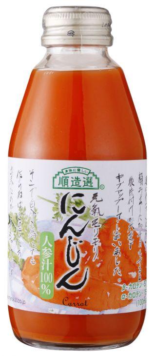 マルカイ 順造選 にんじんジュース 200ml瓶×20本 1ケース(代引き不可) P12Sep14