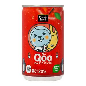 コカ・コーラ ミニッツメイド Qoo クー わくわくアップル 160ml×30本 1ケース (代引き不可) P12Sep14