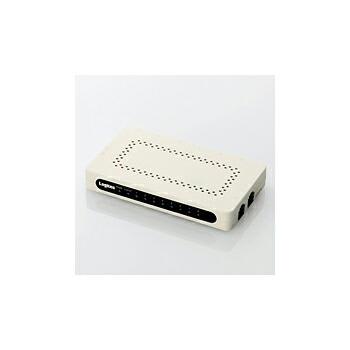 [Logitec ] 電源外付け/ACアダブタ付/8ポート/ホワイト LAN-GSW08/PSW P12Sep14