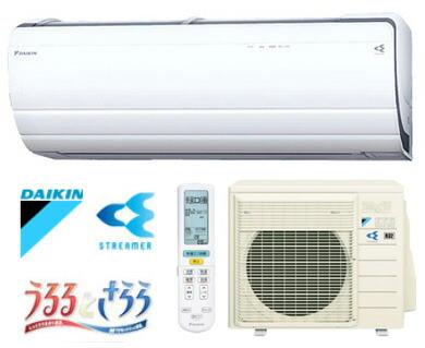 DAIKIN/ダイキン ルームエアコン うるさら7  8畳用 2.5kW  ホワイト 室内電源タイプ (代引き不可) P12Sep14