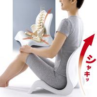 曲線美 骨盤シェイプチェア 美姿勢 座椅子 P12Sep14