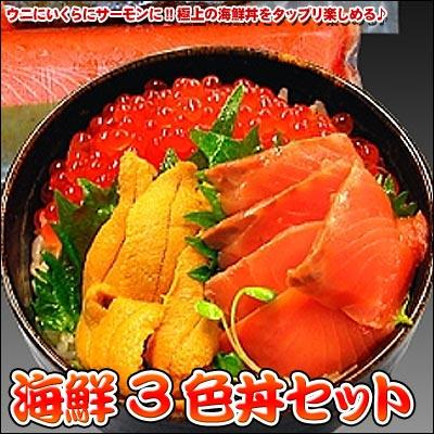 海鮮3色丼セット(代引き不可) P12Sep14