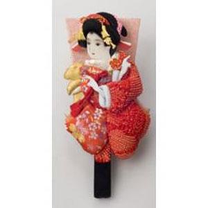 東京浅草「高久」の押絵振袖羽子板(しばり赤) P12Sep14