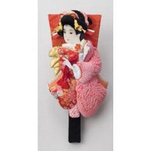 東京浅草「高久」の押絵振袖羽子板(しばりピンク) P12Sep14