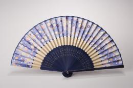 東京浅草「高久」 涼風扇子 桜 きわみ(ブルー) P12Sep14