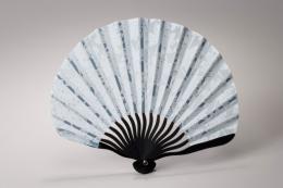 東京浅草「高久」 涼風扇子 団扇型 観音竹 (ブルー) P12Sep14