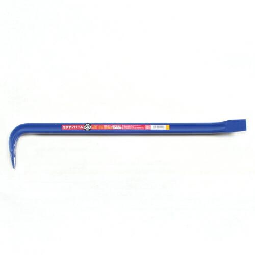 大工道具・バールの平バール他540MM。独特な形状である小判型の材料を使用している為、長時間使用の際、手になじみ疲れにくくなっています。(代引き不可)
