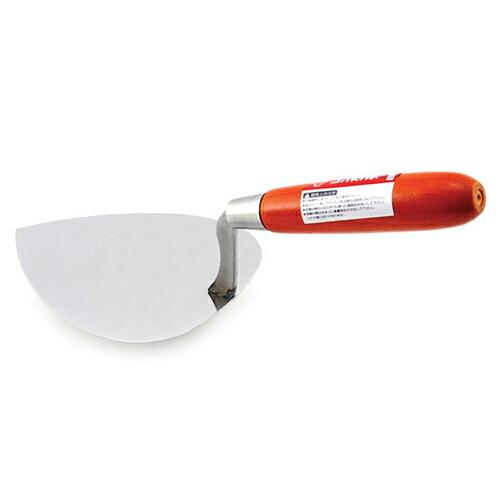 赤長・ステンレスレンガ鏝・NO.2 大工道具:左官鏝:レンガ鏝(代引き不可) P12Sep14