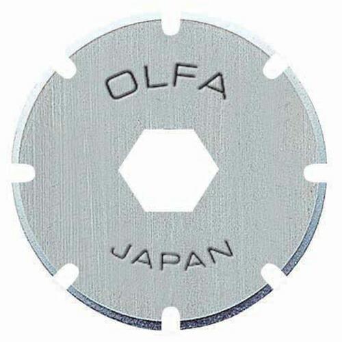 オルファ・ミシン目ロータリー2枚入替刃・XB-173 大工道具:金切鋏・カッター:オルフォカッター替刃(代引き不可) P12Sep14