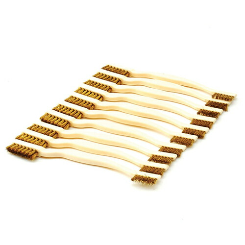 SK11・コンビブラシ真鍮‐10本入・NO.171 大工道具:砥石・ペーパー:竹ブラシ他(代引き不可) P12Sep14
