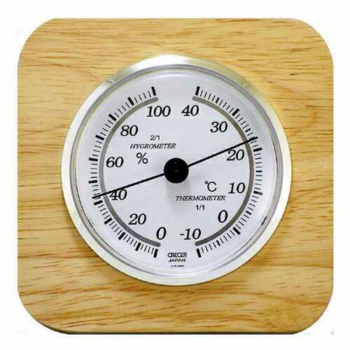 CRECER・天然木温湿度計・CR-620 大工道具:測定具:温度計・他(代引き不可) P12Sep14
