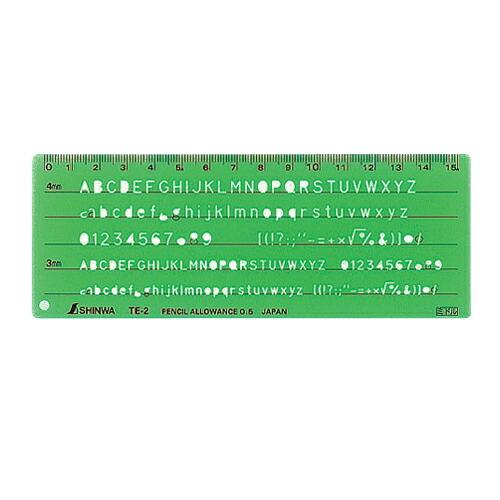 シンワ・テンプレート‐英数字記号定規・TE-2‐66012 大工道具:測定具:その他測定・製図2(代引き不可) P12Sep14