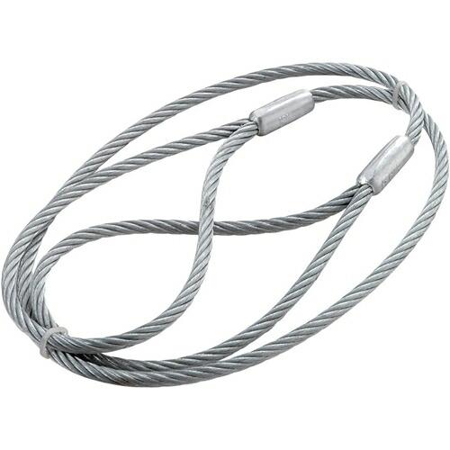JSH・台付ワイヤー‐ハダカ仕様・6X1M 作業工具:スリング・ジャッキ:ワイヤースリング(代引き不可) P12Sep14