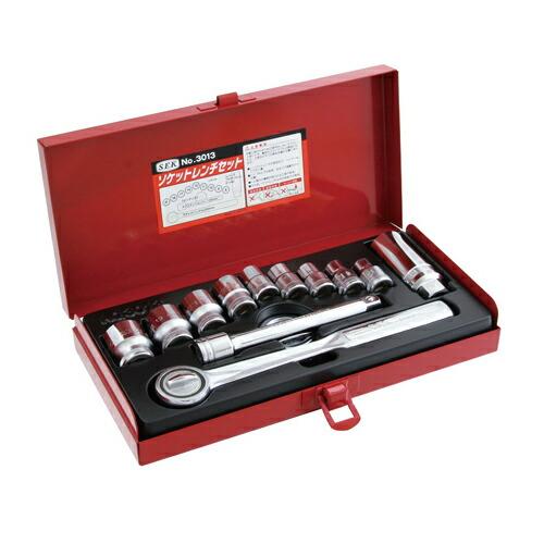SEK・ソケットレンチセット・NO.3013 作業工具:ソケット:ソケットレンチセット(代引き不可) P12Sep14
