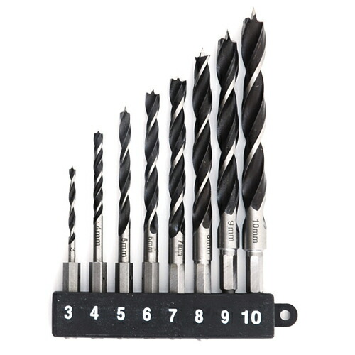 E−Value・六角軸木工ドリルセット・EDS-3HEX 先端工具:木工ドリル:木工ドリル1(代引き不可) P12Sep14