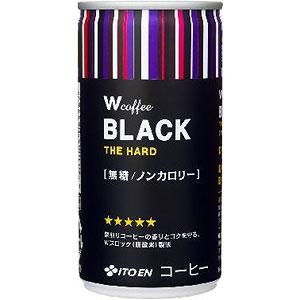 伊藤園 W ダブリュー coffee ブラック 190g×30本 1ケース コーヒー(代引き不可)  P12Sep14