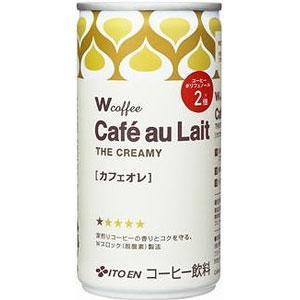 伊藤園 W ダブリュー coffee カフェオレ 190g×30本 1ケース コーヒー(代引き不可)  P12Sep14