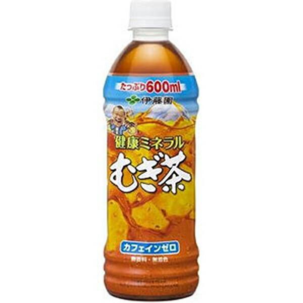 伊藤園 健康ミネラルむぎ茶 600ml×24本 1ケース 麦茶 むぎ茶(代引き不可)  P12Sep14