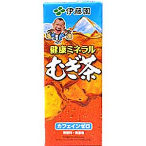 伊藤園 健康ミネラルむぎ茶 紙パック 250ml×24本 1ケース 麦茶 むぎ茶(代引き不可)  P12Sep14