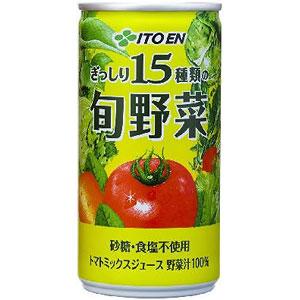 伊藤園 15種類の旬野菜 190g×30本 1ケース 野菜ジュース(代引き不可)  P12Sep14