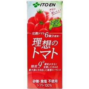 伊藤園 理想のトマト 紙パック 200ml×24本 1ケース 野菜ジュース(代引き不可)  P12Sep14