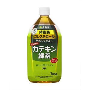 伊藤園 2つの働きカテキン緑茶 1.05L×12本 1ケース 緑茶(代引き不可)  P12Sep14