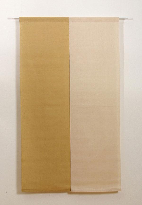 本麻100%使用 『凛 麻暖簾』 ブラウン 85×150cm P12Sep14