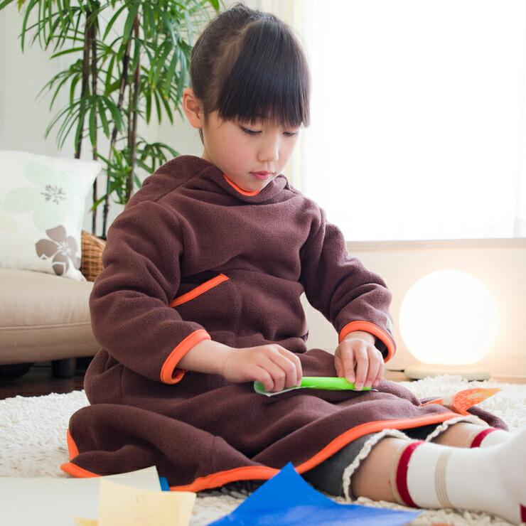 着る毛布 ヌックミィ 着るブランケット ブランケット 毛布 フリース ひざ掛け NuKME(ヌックミィ) ガウンケット ミニサイズ 着丈85cm P12Sep14