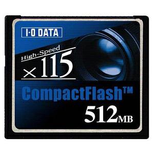 I-O DATA CF115-512M コンパクトフラッシュCD115倍速相当512MB P12Sep14