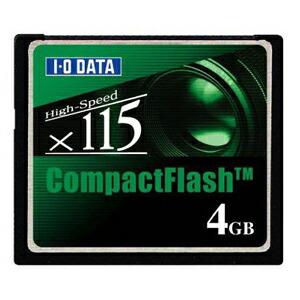 I-O DATA CF115-4G コンパクトフラッシュ CD115倍速相当 4GB P12Sep14