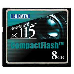 I-O DATA CF115-8G コンパクトフラッシュ CD115倍速相当 8GB P12Sep14