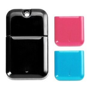 I-O DATA USB 3.0対応USBメモリー コンパクトデザインモデル黒 キャップ色ブルー&ピンク 16GB U3-CPSL16G/BP P12Sep14