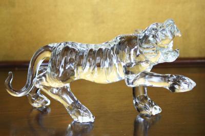 クリスタル タイガー 置物 CT005 P12Sep14