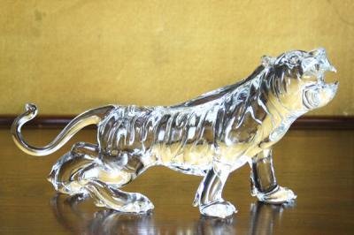 クリスタル タイガー 置物 CT002 P12Sep14