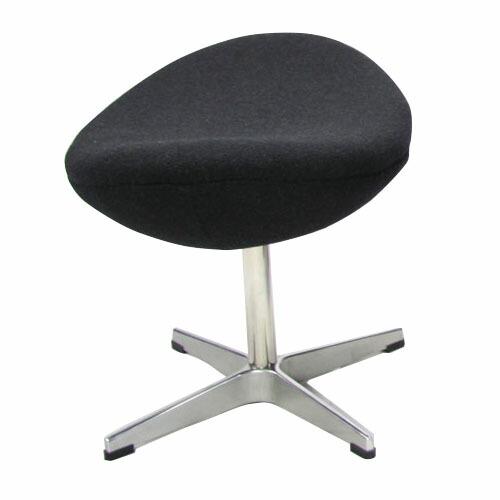 アルネ・ヤコブセン エッグチェア オットマン (総本革) Arne Jacobsen Egg Chair Ottoman リプロダクト(代引き不可) P12Sep14