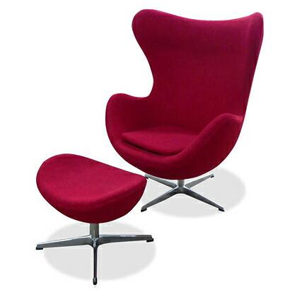 アルネ・ヤコブセン エッグチェア&オットマン(ファブリック)セット Arne Jacobsen Egg Chair&Ottoman リプロダクト(代引き不可) P12Sep14